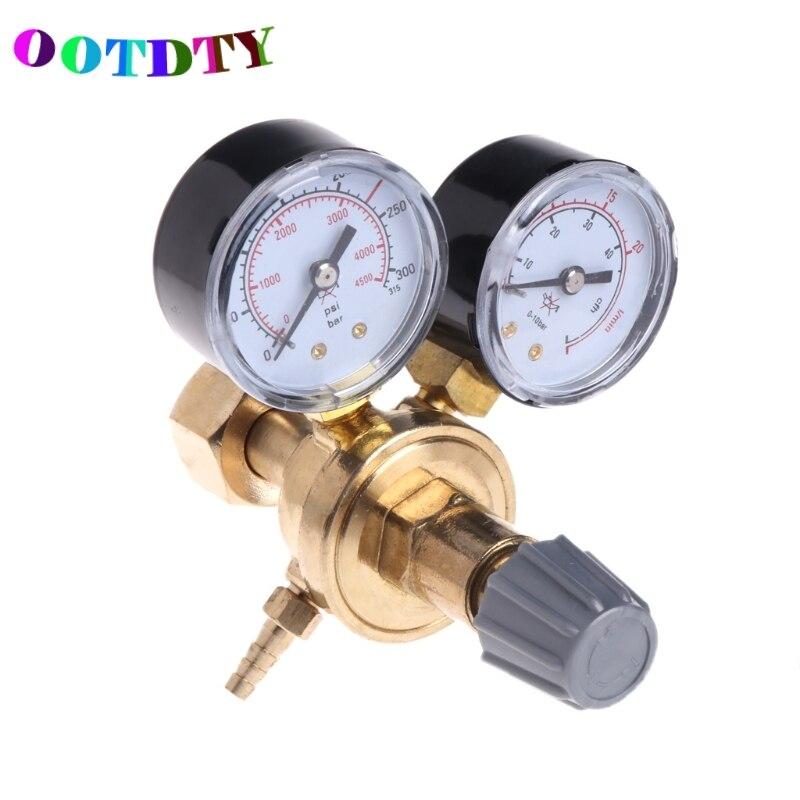 OOTDTY Argon CO2 Gauges Pressure Reducer Mig Flow Meter Control Valve Welding Regulator cypriot argon regulator carbon dioxide regulator electric heating propane oxygen save pressure device