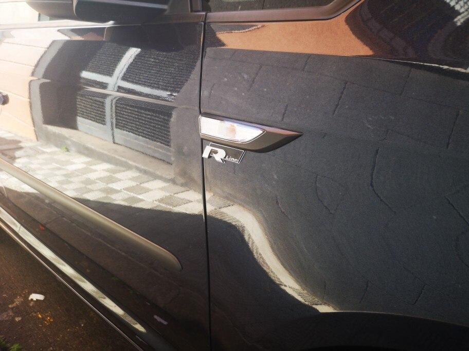 New Metal 3D Car Auto Rline Sticker Emblem R Line Badge for Volkswagen VW GOLF GTI Beetle Polo CC Touareg Tiguan Passat Scirocco