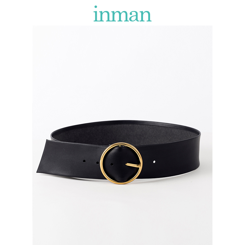 INMAN Winter Autumn Women Artistic All Matched Simple Design Round Buckle Lady Fashion Waist Belt