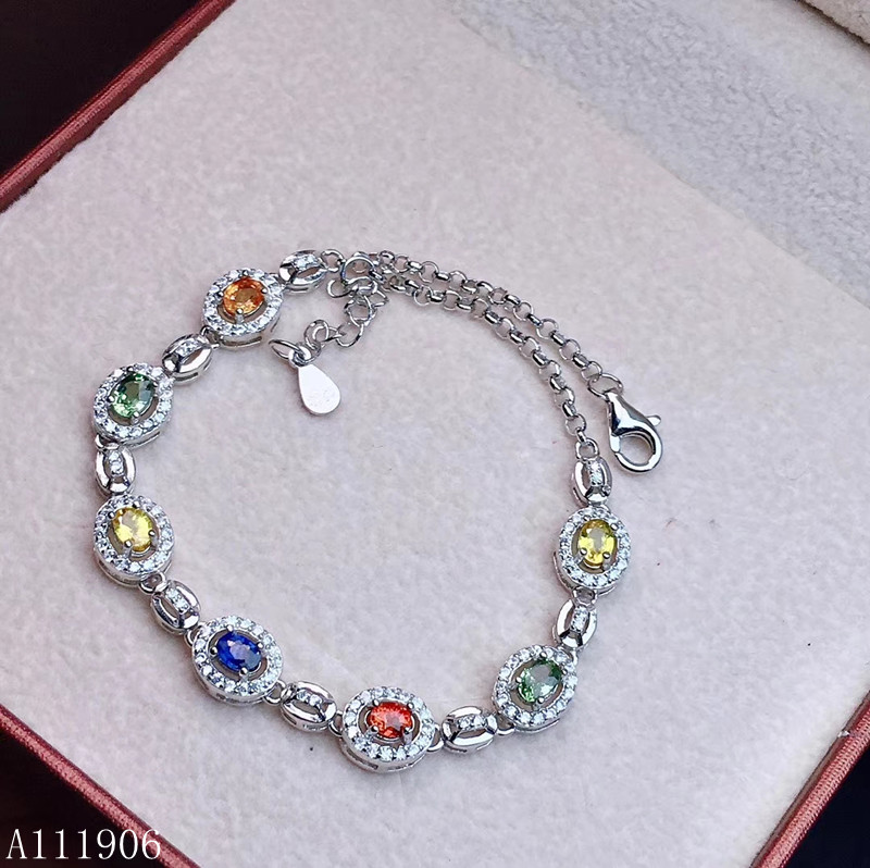 KJJEAXCMY Fine Jewelry 925 sterling silver inlaid natural color sapphire female bracelet support detection of new luxuryKJJEAXCMY Fine Jewelry 925 sterling silver inlaid natural color sapphire female bracelet support detection of new luxury