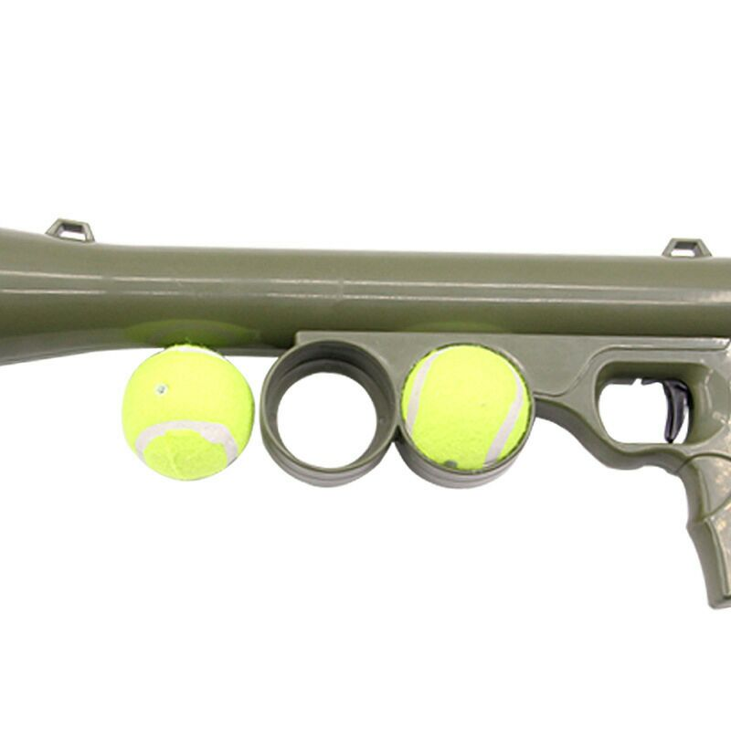 Interactive Dog Toys For Large Dogs Tennis Ball Launcher Gun Treat