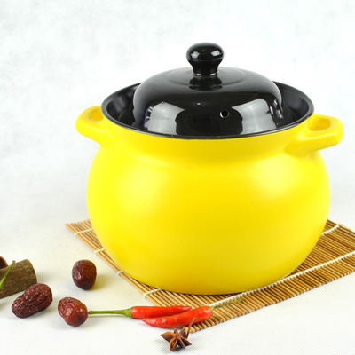 Red casserole stew soup household fire resistant large clay wedding gift porcelain pottery stew pottery hot pot Chinese marmite Red casserole stew soup household fire resistant large clay wedding gift porcelain pottery stew pottery hot pot Chinese marmite