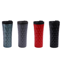 500 ML auto mok Mokken Auto Cup thermos koffie mokken fles voor thee Thermoskan Thermocup Dubbele Muur Rvs liner