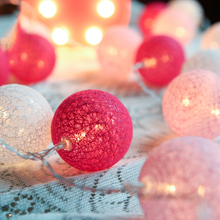 20Pcs/Lot And 10Pcs/Lot  Creativity Cotton Ball LED Battery Powered String Lights Fairy Decoration Party Wedding Holiday Ligh