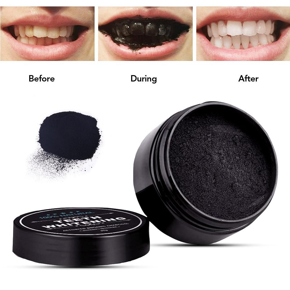 Ежедневная Применение 30g/60 г отбеливание зубов на основе гранулированного активированного угля бамбукового древесного угля порошок для от...