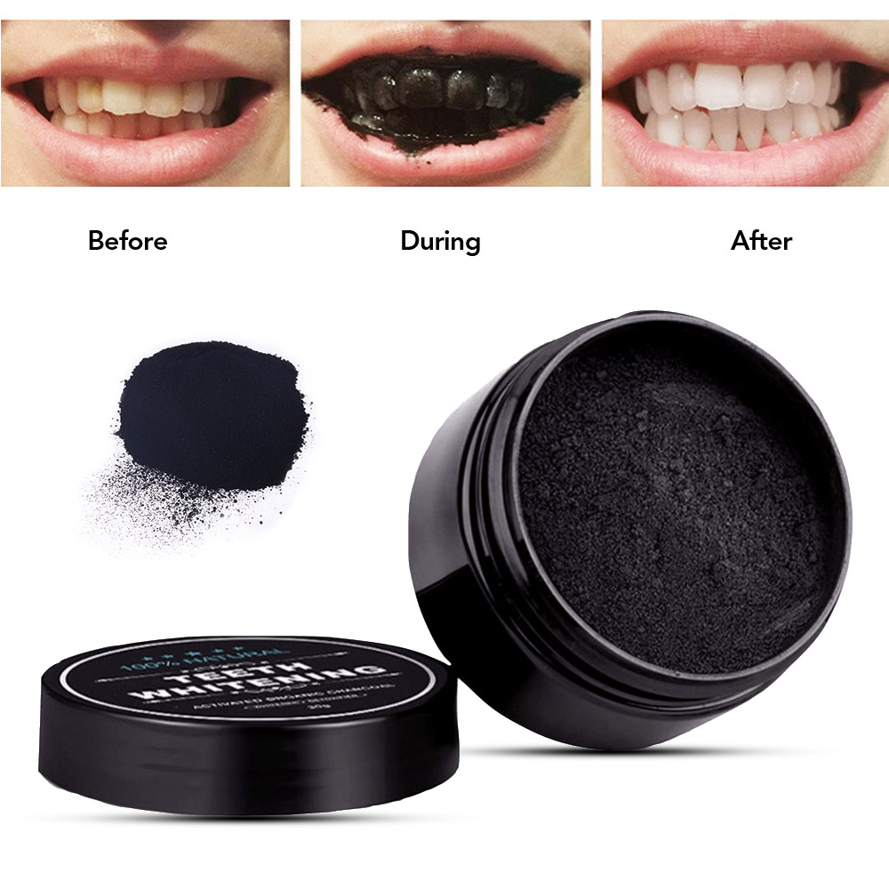 Daily Use 30g Teeth Whitening Powder Activated Bamboo Charcoal Powder Tooth Whitening Scaling Powder Tartar Stain Removal