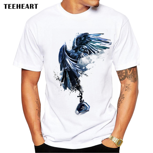31cb29a69 2017 New Arrival Men's Fashion Ink Eagle Design T Shirt Cool Tops Short  Sleeve Hipster Tees