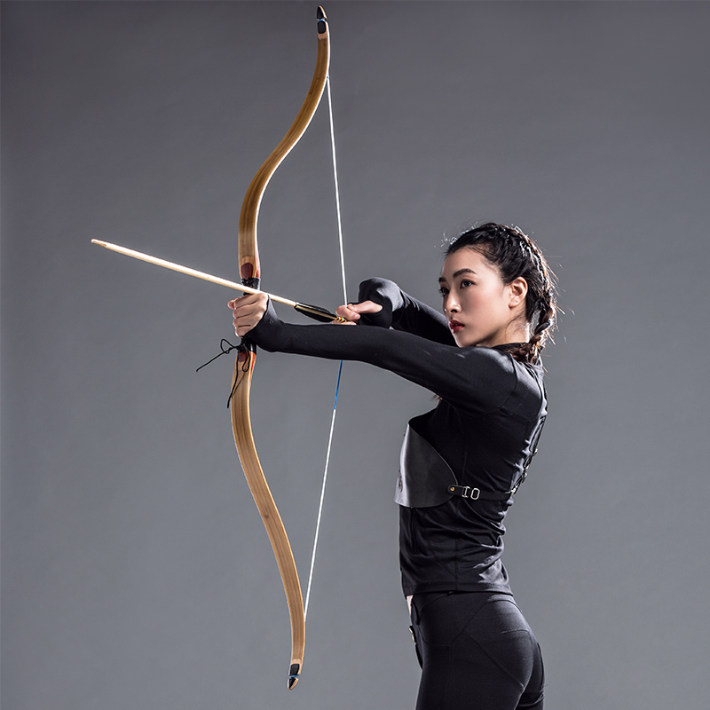 40 45lbs Traditional Archery Bow Shooting hunting Longbow High Quality Wooden Recurve Bow and Arrow Handmade Right and Left Hand 1 piece hotsale black snakeskin wooden recurve bow 45lbs archery hunting bow