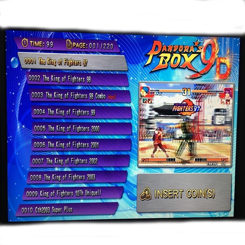 Newest Pandora Box 9D HD Multi Arcade Board 2222 In1 Support HDMI/VGA Pandora 9 Arcade Machine Cabinet