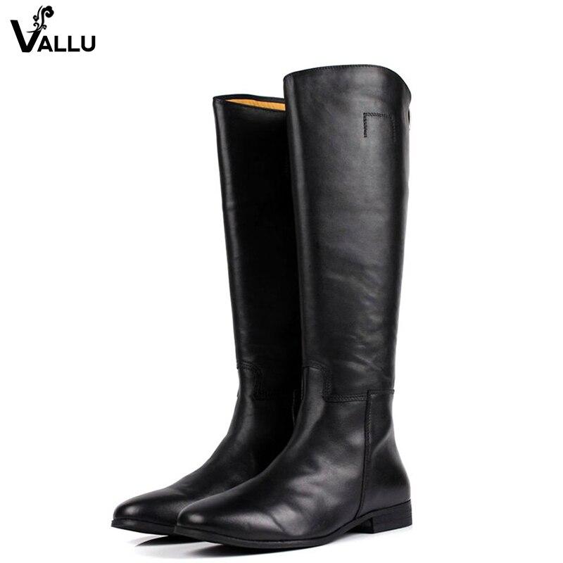 VALLU мода молния сзади Ман ботинки с высоким голенищем первый Слои из кожи Люкс Мужские Ботинки квадратный каблук ручной стежок мужской Мягк