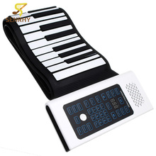 SENRHY 88 Keys Roll Up Piano Rechargeable Keyboard With Microphone Speaker for Musical Keyboard Instrument Lovers Gift Hot Sale
