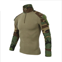 2018 Military Uniform Top for Man 10 Colors Polyeters Cotton Camouflage Suit Breathable US Army Combat Tactical Men Clothes