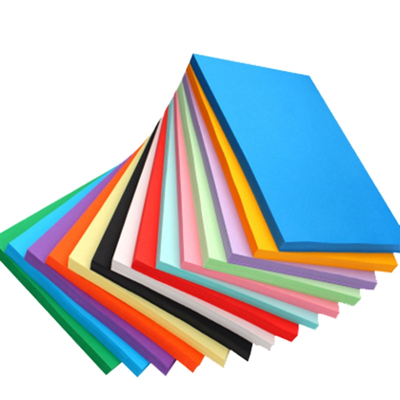 100 sheets Colorful Copy Paper Hand-off Drawing Paper 70G A4 Print Copy Paper Office Supplies Colored Paper 2