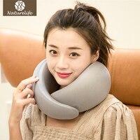 Naturelife High Technology Memory Foam Neck Pillows Portable Snail Travel Sleeping Pillow Solid Airplane Neck Pillow Travel