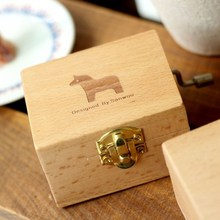 Animals Prints Vintage Wooden Music Box Musical Case Box Homw Room Table Desk Decoration Wedding Birthday Gifts Kids Toys