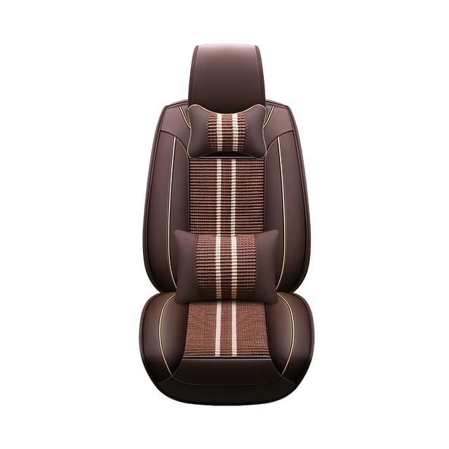 yeti chair accessories cover hire west london aliexpress com buy car seat covers pu leather ice silk custom for skoda octavia fabia superb rapid spaceback joyste jeti