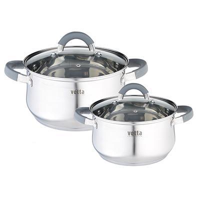 """Casserole avec couvercle """"VETTA"""" en acier inoxydable capsule fond cuisine couteau thermos tasse ensemble discount haute 822-008"""
