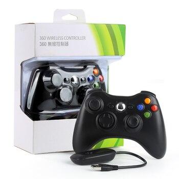 Горячая геймпад для xbox 360 Wirless управление Лер игровой джойстик и ПК приемник управление геймпады для xbox 360 Батарея не включает