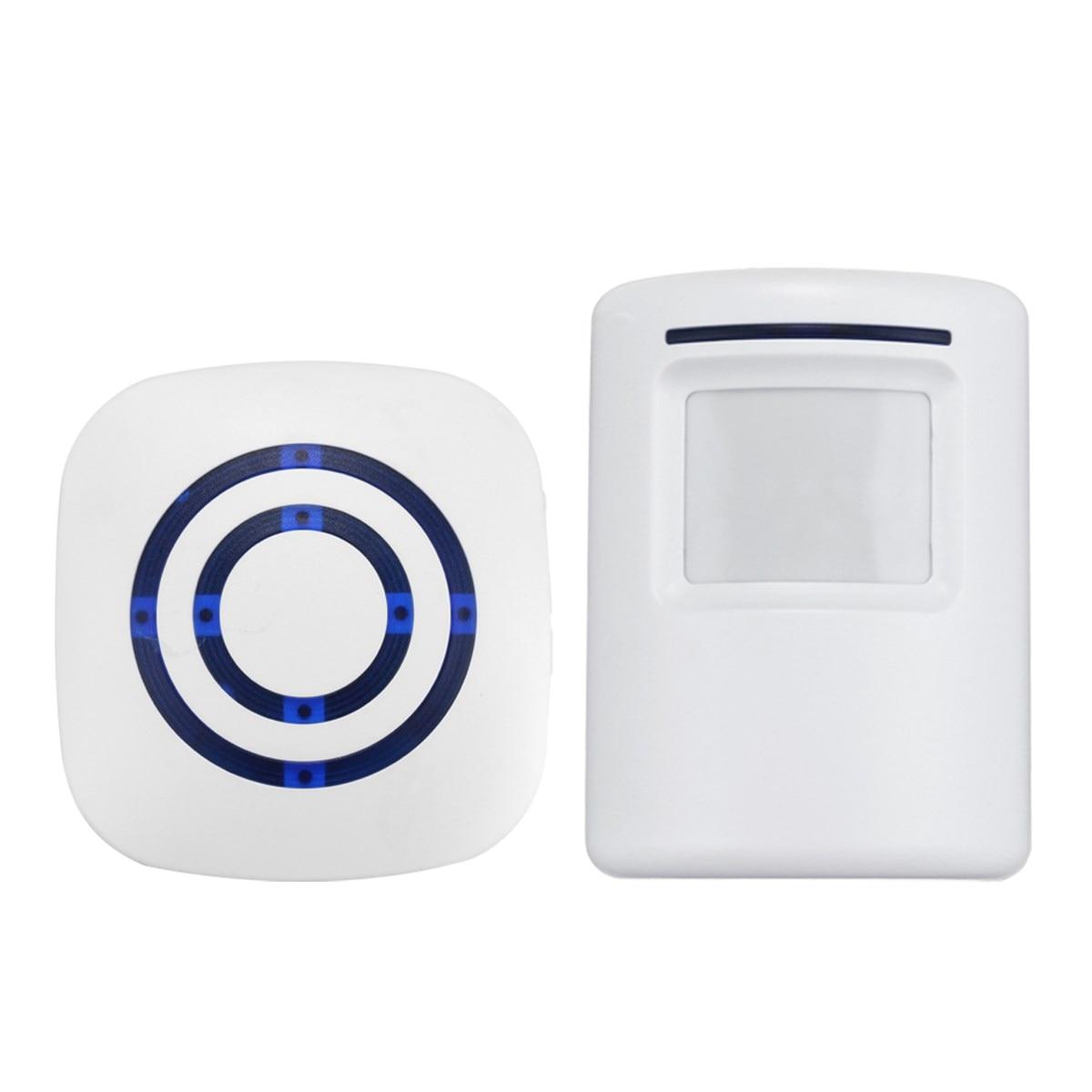 Seguro detector del sensor de movimiento inalámbrico puerta de entrada de la campana Bienvenido Chime alarma domótica seguridad
