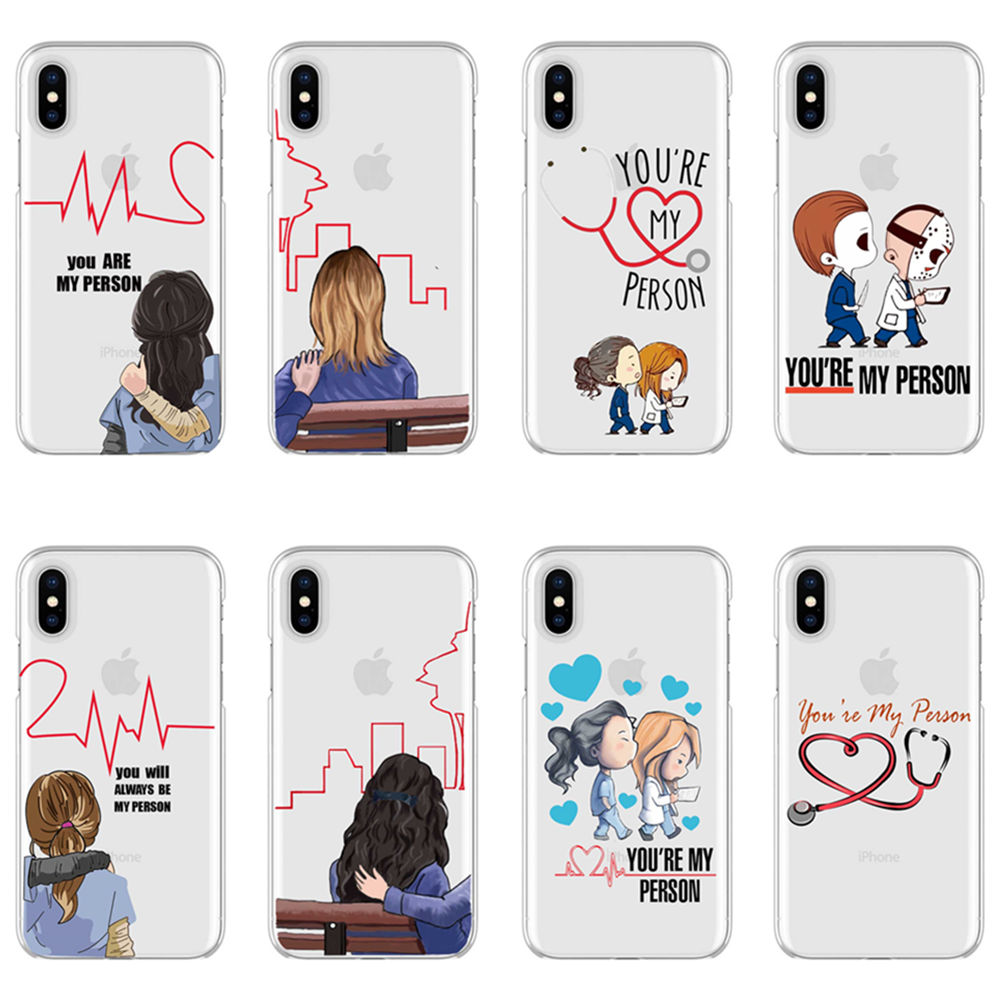 Quadro Grey's Anatomy You're my person Soft TPU cover <font><b>phone</b></font> <font><b>case</b></font> for iPhone Max XR XS X10 <font><b>BFF</b></font> Meredith for iPhone 5 6 7 8Plus image