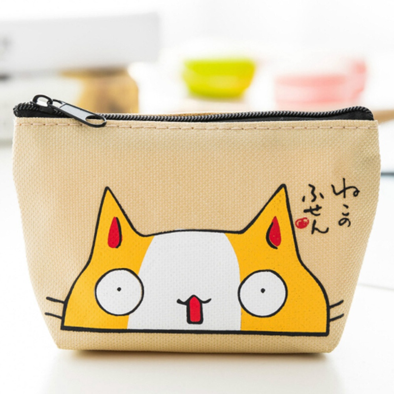 Cat Coin Purses Women Wallets Small Mini Cute Cartoon Animal Card Holder Key Bag Money Bags For Girls Ladies Purse Kids women 3 cute cat short wallet animal printing purse card holder coin bags