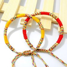 Bohemian Brazil Cheap Colorful Rainbow Handmade Weave Woven Braided Rope Thin String Strand Friendship Bracelet(China)