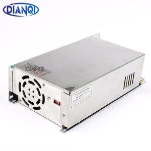 DIANQI led Питание переключатель 600 Вт 48 В 12. 5A ac dc преобразователь вход 110 В S-600w 48 в импульсный источник питания 12. 5A S-600-48