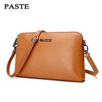 PASTE 2017 New Fashion Shell Women Messenger Crossbody Bags High Quality Genuine Leather Mini Female Shoulder