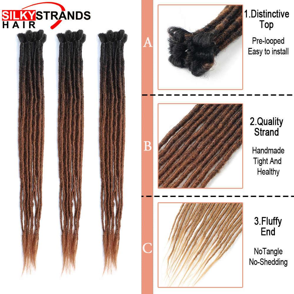 Дреды ручной работы, волосы для наращивания, мягкие регги, волосы из Непала для хиппи, племенные, вязанные крючком, синтетические плетеные волосы