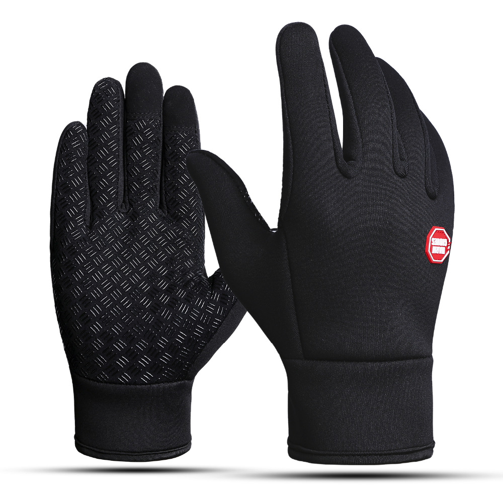 Winter Outdoor Sport Gloves Touchscreen Bicycle Bike Cycling Running Gloves For Men Women Windproof Simulated Warm Men Eldiven