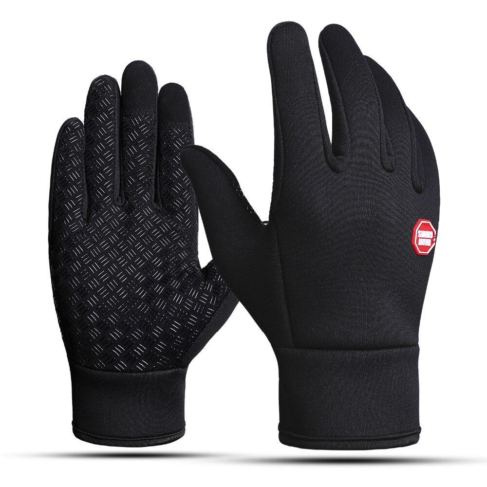Winter Outdoor Sport Handschuhe Touchscreen Fahrrad Bike Radfahren Laufen Handschuhe Für Männer Frauen Winddicht Simulierte Warme Männer eldiven