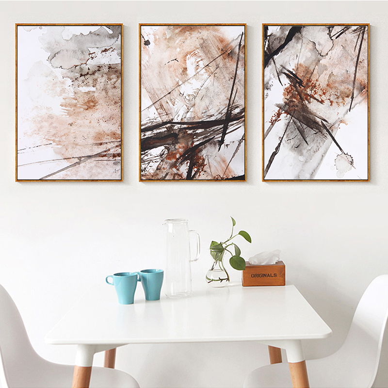 Cheap Art Decor: GOODECOR 3pcs Abstract Watercolor Canvas Painting Home