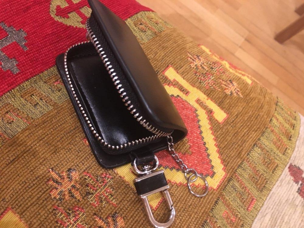 THINKTHENDO Women Men Car Key Chain Ring Keychain Case Coin Holder Zipped Key Holder Housekeeper Keys Leather Organizer Portable photo review