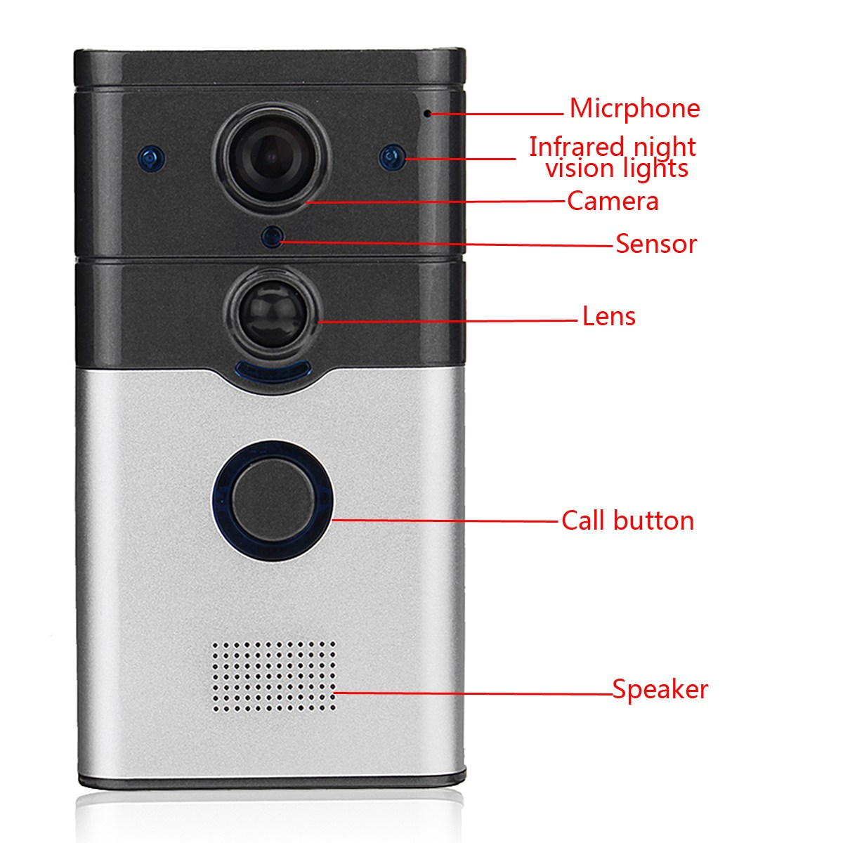 wireless wifi smart home hd video doorbell camera. Black Bedroom Furniture Sets. Home Design Ideas