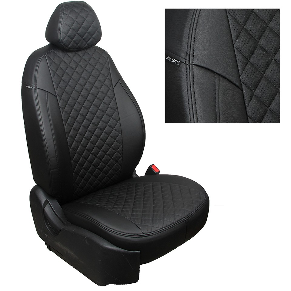 For Datsun MiDo special seat covers with separate 60/40 backrest full set Autopilot Eco-leather ROMB for nissan terrano 2017 2019 special seat covers with separate backrest 60 40 full set autopilot eco leather