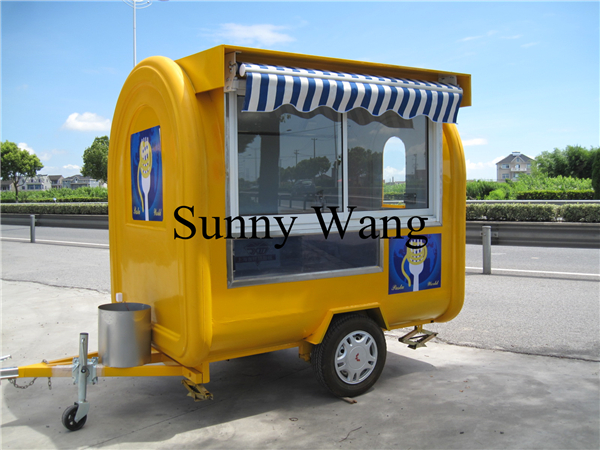 220cm Mobile Food Trailer Food Cart Food Truck/ice Cream Truck/mobile Snack Food Carts For Sale With Free Shipping