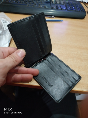 THINKTHENDO Wallet Slim Money Clip Luxury Business Leather Wallet Gifts photo review
