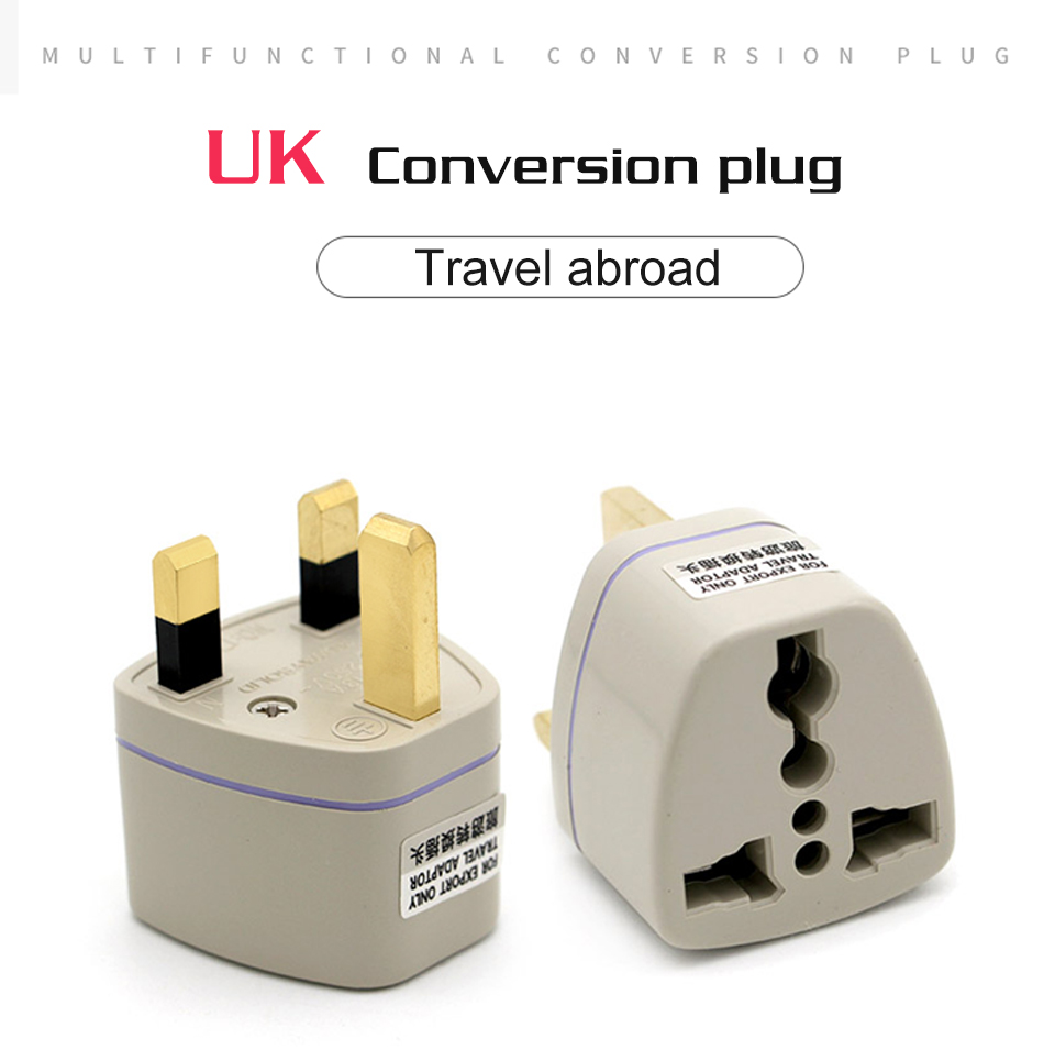 Multifunctional EU US AU to UK Plugs adapter Power Converter Plugs 2 Pin Socket EU to England Travel Charger Adapter Converter (8)