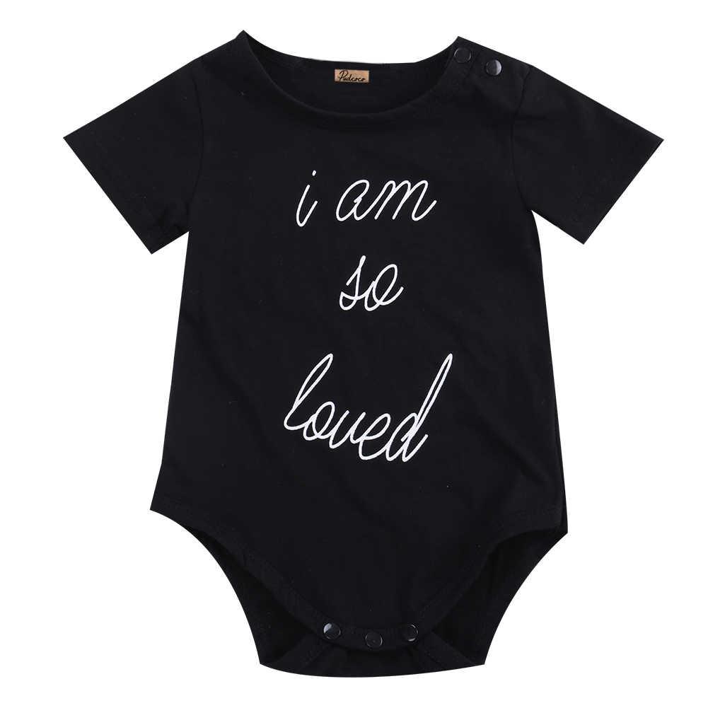 Комбинезон с коротким рукавом для новорожденных мальчиков и девочек, черный комбинезон для маленьких мальчиков и девочек, Детский комбинезон для малышей 0-24 месяцев