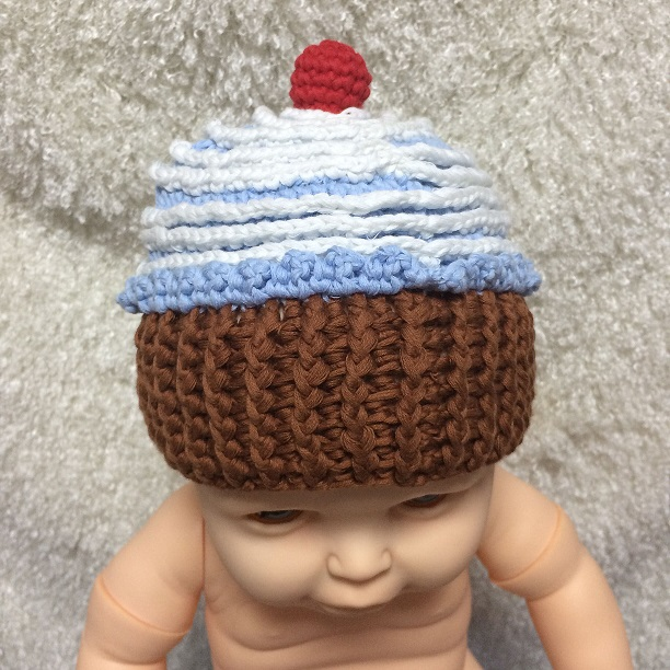 New Style! Crochet Knit Baby Hat Cake Design Lovely Newborn Baby Beanies Cap Handmade Photography Props Retail