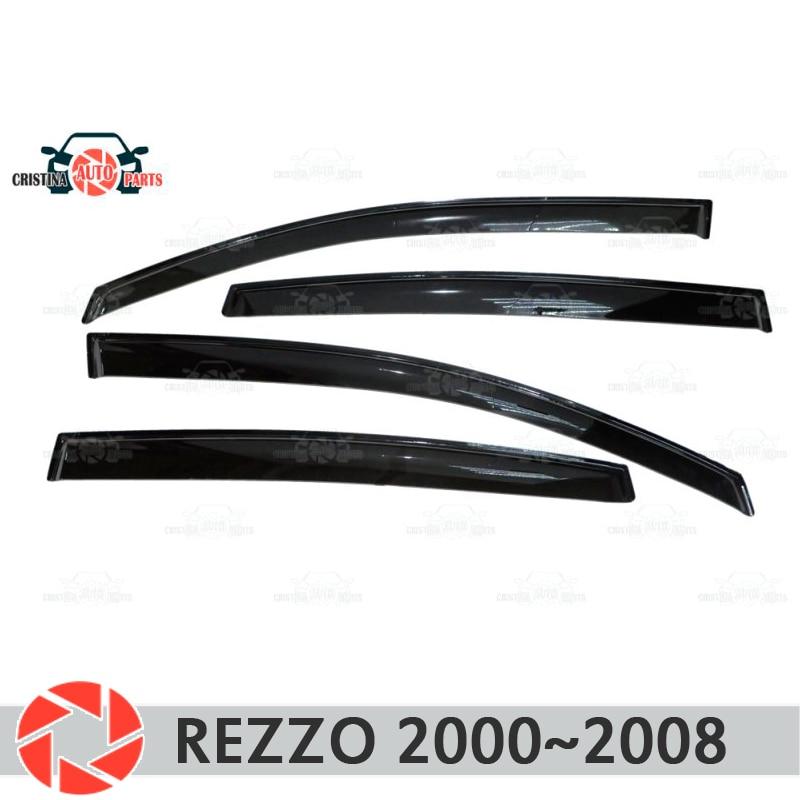 Deflector janela para Chevrolet Rezzo 2000-2008 chuva defletor sujeira proteção styling acessórios de decoração do carro de moldagem