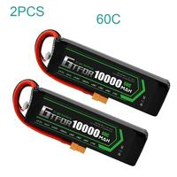 GTFDR lipo Battery 7.4V 10000mAh 2S 60C 80C 100C RC Battery Deans XT60 for 1/8 1/10 Car RC Boat Helicopter Quadcopter Boat Car