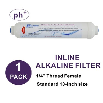 Alkaline Water Filter 2 x 10 Post Inline Water Filter Replacement ph + for Under Sink and  Reverse Osmosis System refrigerator and reverse osmosis ro system replacement water filter cartridges 10 in t33 inline sediment filter 3 1 free