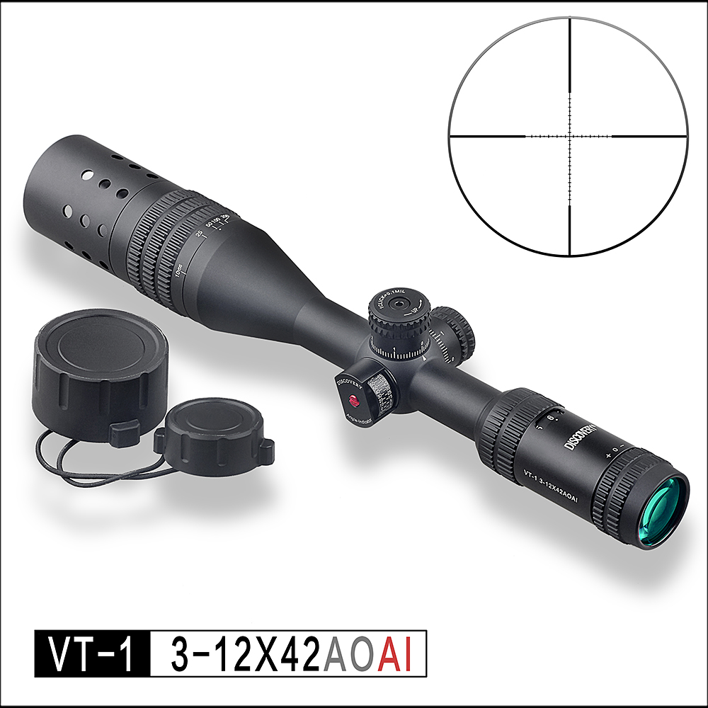 DISCOVERY hunting optical sight VT-1 3-12X42AOAI angle gauge rifle scope цены