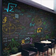 Mathematical formula color chalk blackboard background wall custom large indoor wallpaper mural 3D photo