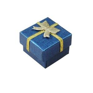 Image 2 - Jewelry Box With Black Sponge 4X4X3cm Small Square Cardboard Earrings Gift Box Fashion Jewelry Display Organizer Packaging