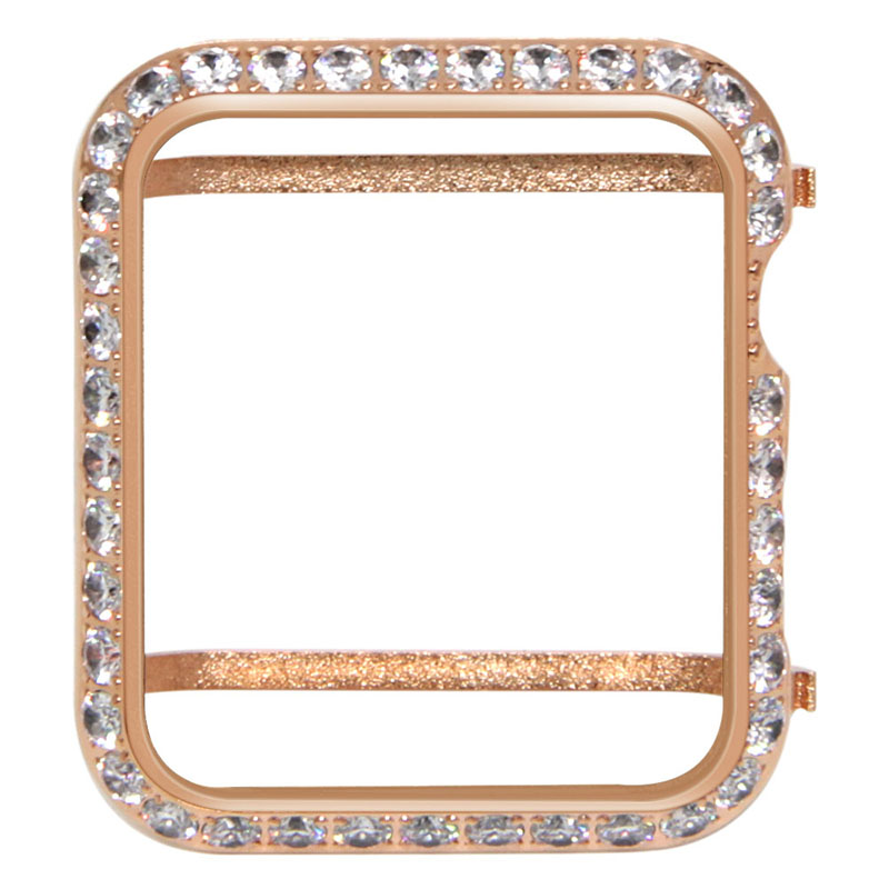 Series4/3/2/1 diamant couverture pour Apple montre bracelet cristal diamant montre couverture pour Apple Watch