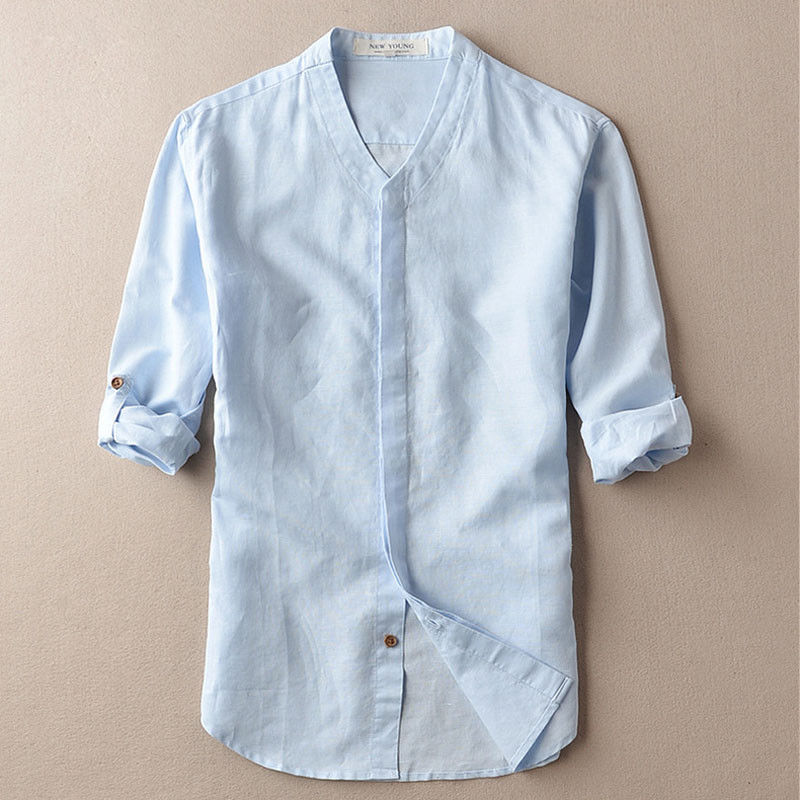 3d46d6626c7 Fashion Men Summer Breathable Linen Beach Shirts Casual Loose Tops Men Thin  Dress Soft Shirts Stylish mens Short Sleeve Shirts-in Casual Shirts from  Men s ...