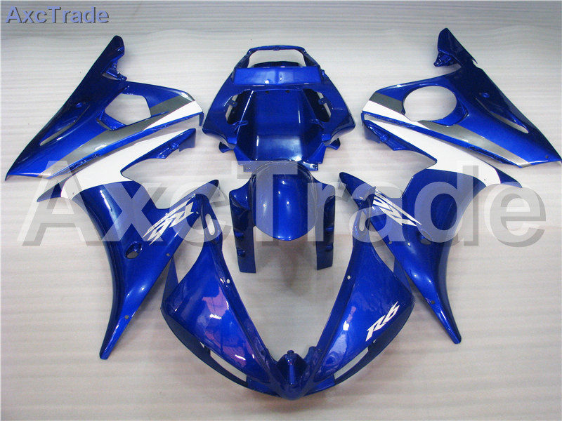 Motorcycle Fairings Kits For Yamaha YZF600 YZF 600 R6 YZF-R6 2003 2004 03 04 ABS Injection Fairing Bodywork Kit Blue White A376