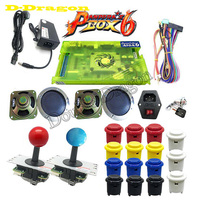 Pandora Box 6 Pandora's 1300 in 1 Family Version support 3d game with joysticks buttons power adapter for DIY console to TV